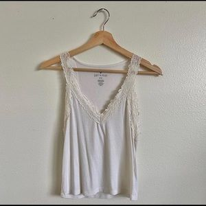 American Eagle Lace Trimmed Tank Top